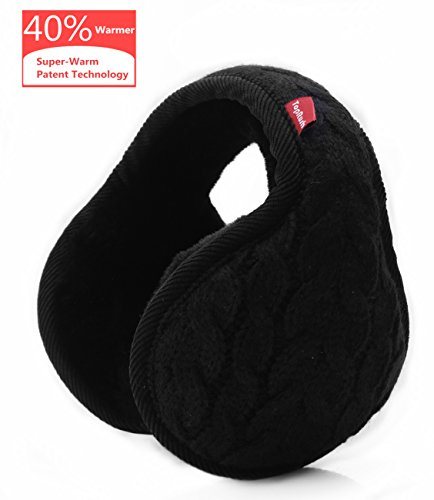 ANKEPAZ Foldable Ear Warmers/Ear Muffs - High-Class Windproof Fleece Winter Earmuffs for Men Women & Kids