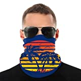 Yuanmeiju Tube Scarf,Tough Sombreros,Dont Worry Be Happy Palm Trees Outdoor Sports Neck Warmer Headband Pañuelo