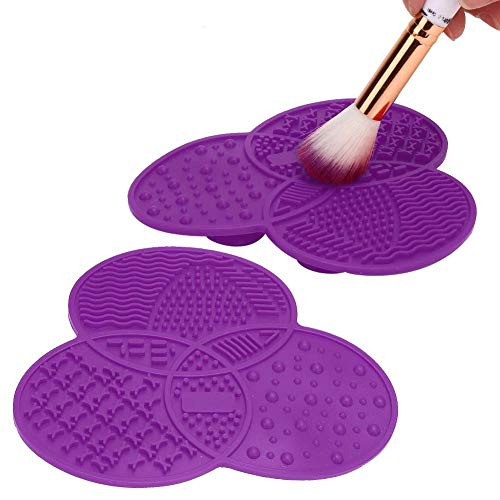 Alinory Makeup Brush Cleaner, 3 colores Silicona Makeup Brush Cleaner Pad...