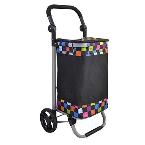 BGTRRYHY 49l Large Capacity Luggage Cart Light Weight Shopping Trolley Folding Wheeled Push Cart Bag Luggage Bags