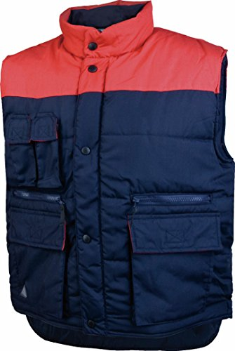 Delta plus indumentaria frio - Chaleco bolsillos poliester algodón azul marino rojo -s