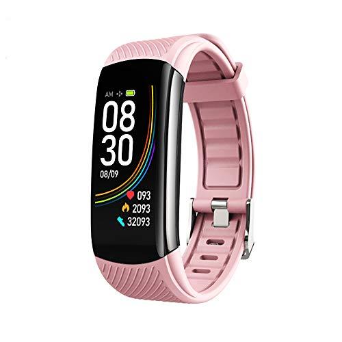 LOVOVR Pulsera de actividad con GPS, HR Bluetooth inteligente con frecuencia cardíaca, contador de pasos, monitor de sueño, medición de temperatura, podómetro para teléfono móvil Android e IOS