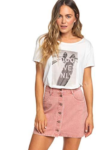 Roxy Onforgettable val-rok van fluweel met knop, voor dames