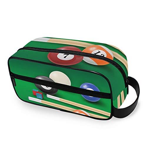 LZXO Bolsa de cosméticos colgante con diseño de bolas de billar, bolsa...