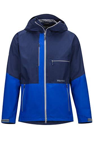 Marmot Cropp River Jacket Veste de Pluie Hardshell, imperméable, Coupe-Vent, étanche, Respirante Homme, Arctic Navy/Surf, FR (Taille Fabricant : XL)