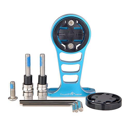 TrustFire HE06 Support de vélo GPS pour ordinateur de vélo de route pour caméra de sport Go Pro Garmin Edge, Bryton, Sony HDR AS50/AS200V – Bleu