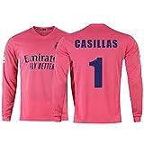 ANHPI Iker Casillas Fernández # 1 Jersey, Fútbol de Hombre Camiseta Camiseta de Manga Larga Traje de Entrenamiento, Todos los tamaños para Adultos (Color : B-#1, Size : XXL)