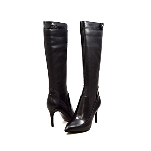 SoleMani Women's Slim Collection Lily Leather Boots 6 Black