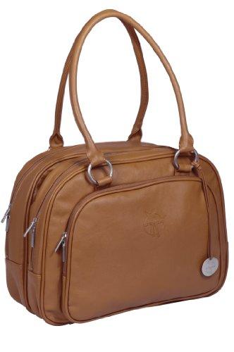 LÄSSIG baby luiertas babytas stijlvolle tas incl. wikkelaccessoires/tender multizip bag cognac