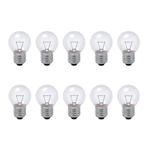 B4U Glühbirne E27 40w Warmweiß 2700k Dimmbar, Leuchtmittel Vintage lavalampe birne Klar Edison Screw Runde Glühbirnen Glühlampe Glühlampen 230V, Lebensdauer 3000 Stunden, 10er pack
