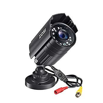 ZOSI 2.0MP 1080P HD 1920TVL Security Camera Hybrid 4-in-1 TVI/CVI/AHD/960H CVBS CCTV Camera Outdoor Indoor,80ft IR Night Vision,Weatherproof Bullet Camera For analog Surveillance DVR Black