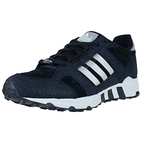 adidas Equipment Running Cushion 93' Mens in Black/Metalic Silver, 8.5