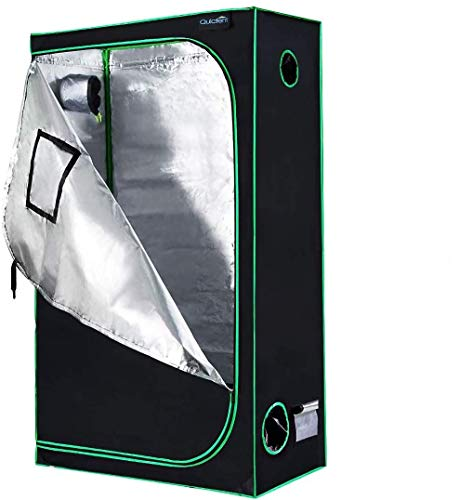 Quictent SGS Approved Eco-Friendly 48'x24'x84' Reflective Mylar Hydroponic Grow Tent with Heavy Duty Anti-Burst Zipper and Waterproof Floor Tray for Indoor Plant Growing 4'x2'