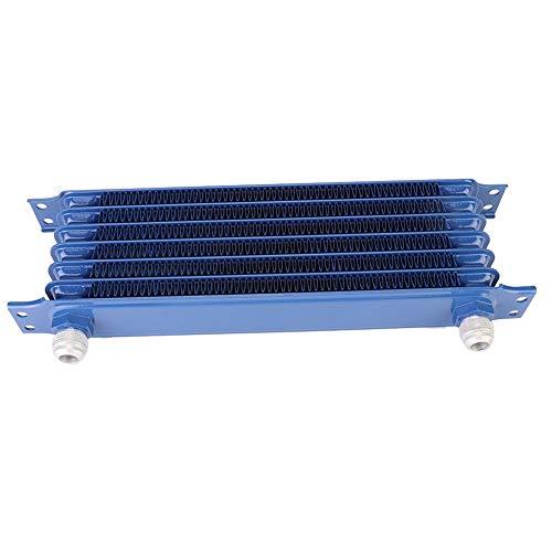 KIMISS Auto oliefiler, 7 regels blauwe kleur auto motorolie-koeler koeler wijzigende accessoires vervanging