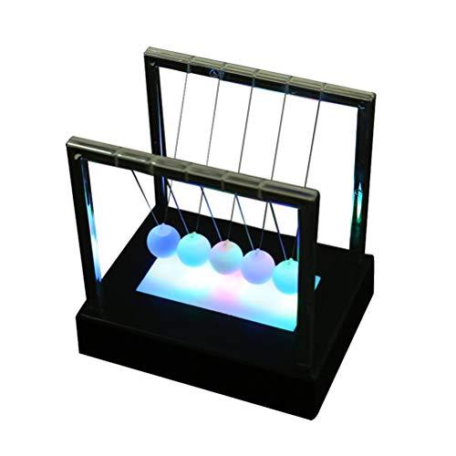 VOSAREA Pendule de Newton Balle d'équilibre de Berceau Jouet Lumineux de Bureau sans Batterie