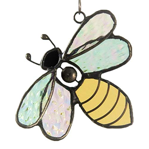 Bee Ornament Sun Catcher Stained Glass Bee Window Hanging