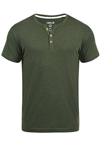 !Solid Volker Herren T-Shirt Kurzarm Shirt Mit Grandad-Ausschnitt, Größe:M, Farbe:Climb Ivy Melange (8785)