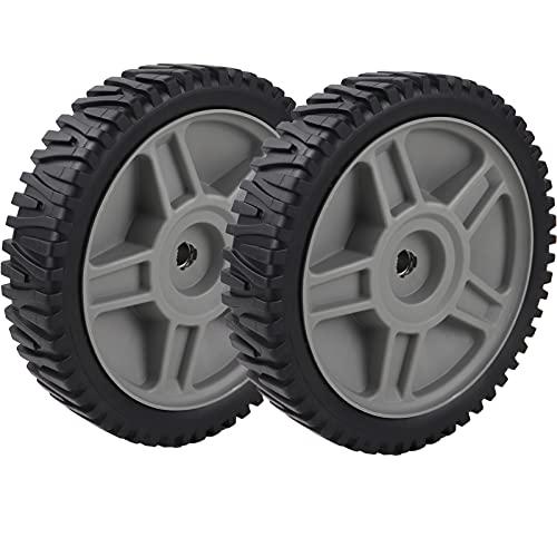 "581009202 193912X460 Lawn Mower Front Drive Wheels for Craftsman poulan Husqvarna hop ayp, 5 Spoke, 8 x 1-3/4"", 2 Pack"