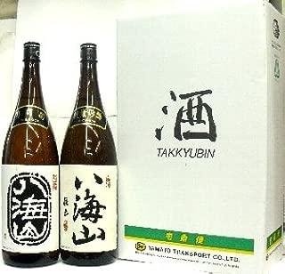 八海山(新潟)、吟醸 & 純米吟醸 1800ml 2本セット/輸送カートン入り