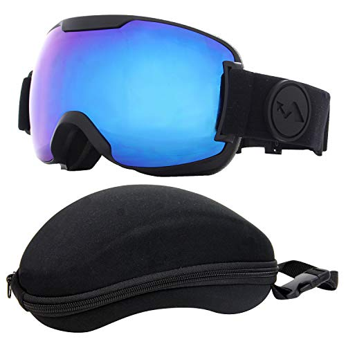 VAXPOT(バックスポット) スノーボード スキー ゴーグル ハードケース付き メンズ レディース兼用 【フルレ...
