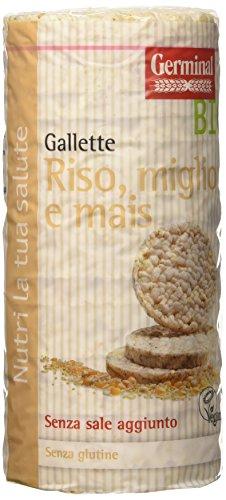 Germinal Bio Gallette Riso, Miglio e Mais - 12 confezioni da 120 gr - 1440 gr