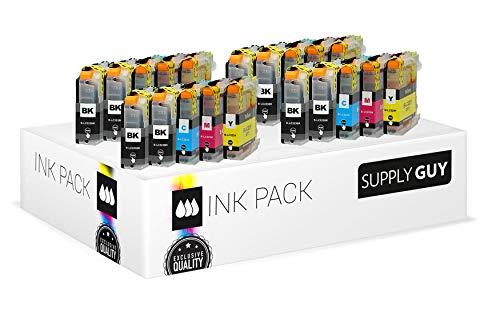 Supply Guy 20 Druckerpatronen kompatibel mit Brother LC223 LC-223XL LC-225 LC-227 mit Chip und Füllstandsanzeige für MFC-J5320DW MFC-J5620DW MFC-J480DW DCP-J4120DW DCP-J562DW und weitere