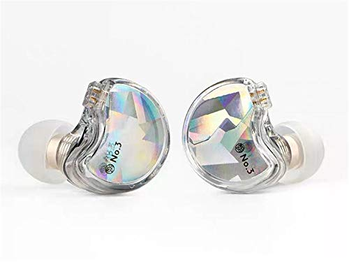 Linsoul TFZ No.3 Third Generation HiFi in-Ear Earphone Dynamic Driver IEM with 2pin 0.78mm Detachable Cable (TFZ NO.3 Dazzle Clear)