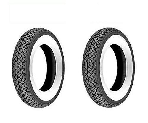 2 neumáticos de goma 3,50-10 con banda blanca para rueda Piaggio Vespa Rally 180 200