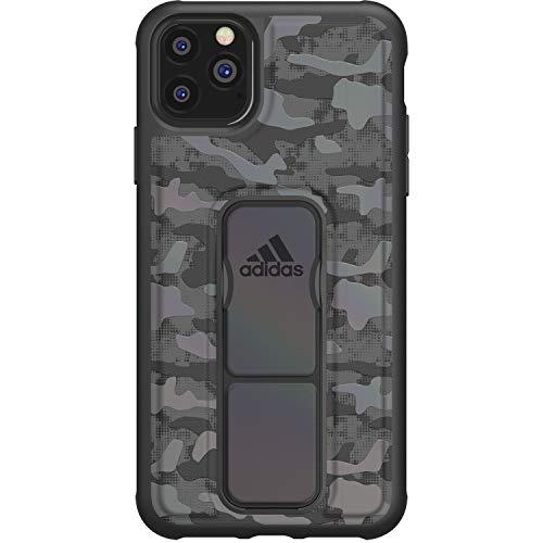 adidas Sports Kompatibel mit iPhone 11 Pro Max Hülle, Griffiger Griff Stand, Schutzhülle Handyhülle - Tarnfarbe Schwarz