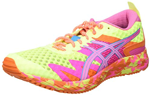 Asics Gel-Noosa Tri 12, Road Running Shoe Mujer, Safety Yellow/Dragon Fruit, 39 EU