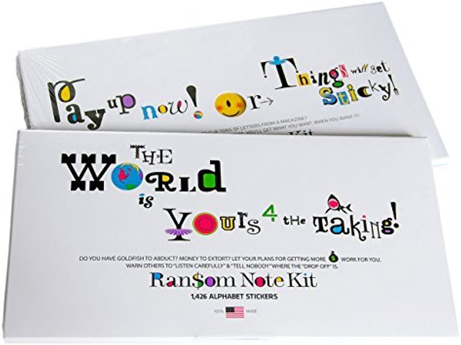 Alphabet Stickers - Ransom Note Kit by a-QK pronounced a-QooKay