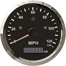 ELING MPH GPS سرعت سنج سرعت سنج 125MPH مسافت پیموده شده قابل تنظیم برای زنگ خطر برای موتور سیکلت قایق 85MM