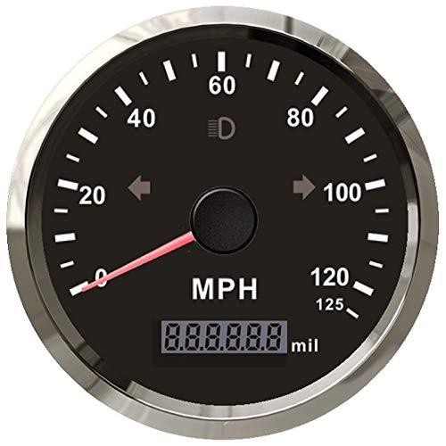 ELING MPH GPS Velocímetro 125MPH Cuentakilómetros Kilometraje Alarma de sobrevelocidad ajustable para...