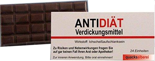 quacksalberei Witzige Schokolade mit Grußkarte ANTIDIÄT 100 g