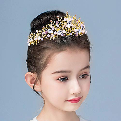 Tiaras and Crowns for Women Wedding Queen Pageant Princess Bridal Rose Gold Tiaras Birthday Gift Crown Headband for Girls Adult
