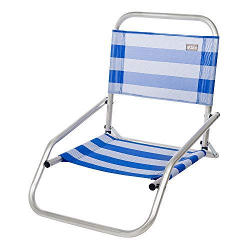 Aktive 53953 - Sedia Pieghevole Fissa Alluminio Beach 66x47x54 cm - Blu