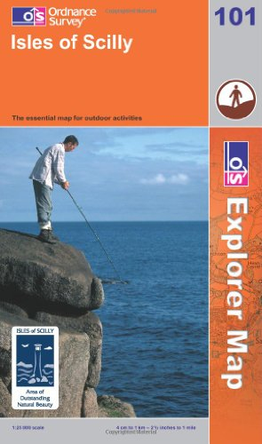 OS Explorer map 101 : Isles of Scilly