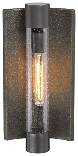 Minka Lavery 72662-516 Celtic Shadow Outdoor Wall Sconce Lighting, 1-Light, 60 Watt, Textured Bronze w/Silver Highlights (17'H x 8'W)