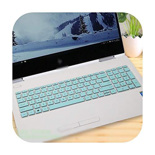 Schutzhülle für HP Envy x360 15 2018 Ryzen für HP Pavilion 15 AMD Ryzen 5 2-in-1 Notebook Laptop Tastaturschutz - weißblau