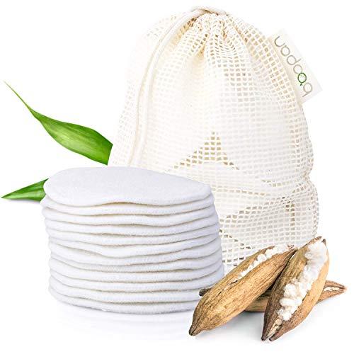 boopan® 12 Abschminkpads waschbar aus Bambus inkl. Wäschebeutel - Zero Waste Make up Entferner Pads - Wattepads wiederverwendbar zur sanften Gesichtsreinigung - inkl. Hautpflege-Guide