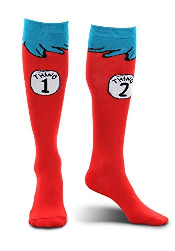 elope Dr. Seuss Thing 1 & 2 Costume Socks for Kids Red