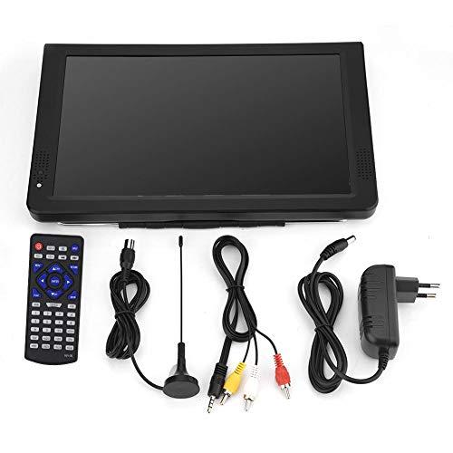 Socobeta TV Digital Televisores analógicos TV Digital portátil con DVB-T-T2 para Aviones domésticos de automóviles de 11.6 Pulgadas(Enchufe DE LA UE)