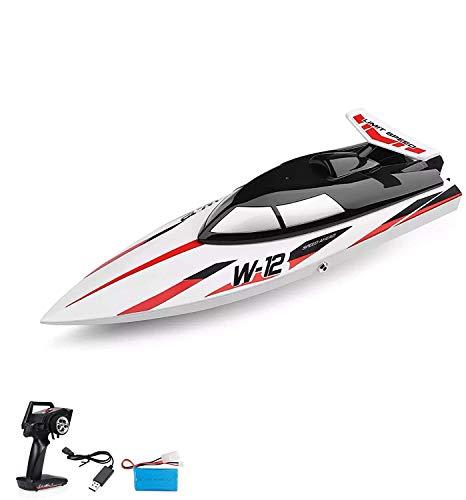 Highspeed RC ferngesteuertes Speedboot mit 2,4GHz digital vollproportional, Selbstaufrichtfunktion, Wasserkühlung, Akkuwarner, Boot Racing Rennboot-Modell mit Top-Speed bis zu 35km/h