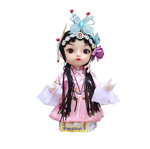 Uziqueif Oriental Drama-handgemachte Puppen Q Version Puppe Folk Crafts Geschenke für Dekorative Home Geschenke Puppe Geschenk Collectibles-23 Typen zur Auswahl,F