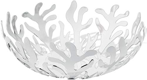 Alessi ESI01/21 W Mediterranean Fruit Bowl in Steel Colored with Epoxy Resin, White
