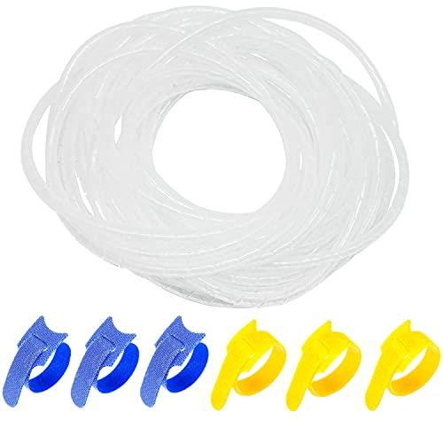 GALDOEP organizador de cables espiral,8 mm Interior Dia,Espiral Envoltura Cable ,Cable Enrrollado...