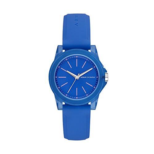 Armani Exchange Reloj Analógico para Mujer de Cuarzo con Correa en Silicona AX4360