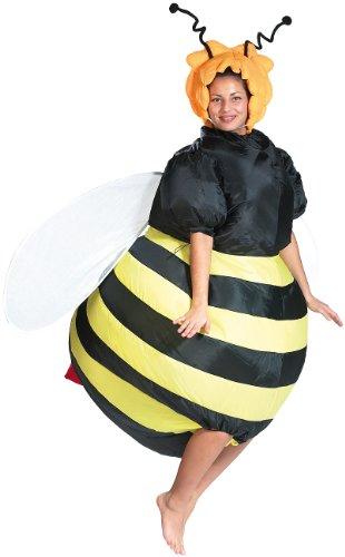 Playtastic Halloween Kostüm: Selbstaufblasendes Kostüm Fette Biene (Karneval-Kostüme aufblasbar)