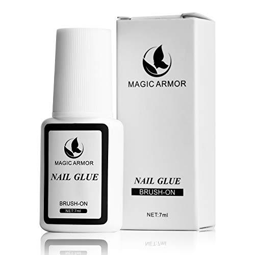 MagicArmor Nagelkleber Extra stark Tipkleber für Professionell Salon-Qualität Nagelkleber für tips schnelltrocknend nagelkleber mit pinsel und nagelkleber für kunstnägel Perfekt für Acrylnägel