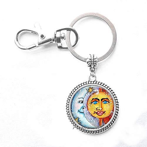 Schlüsselanhänger mit Sonne und Mond, Freundschafts-Schlüsselanhänger, für Sie und Ihn, für Paare, beste Freunde, Geschenk zum Valentinstag, Y183